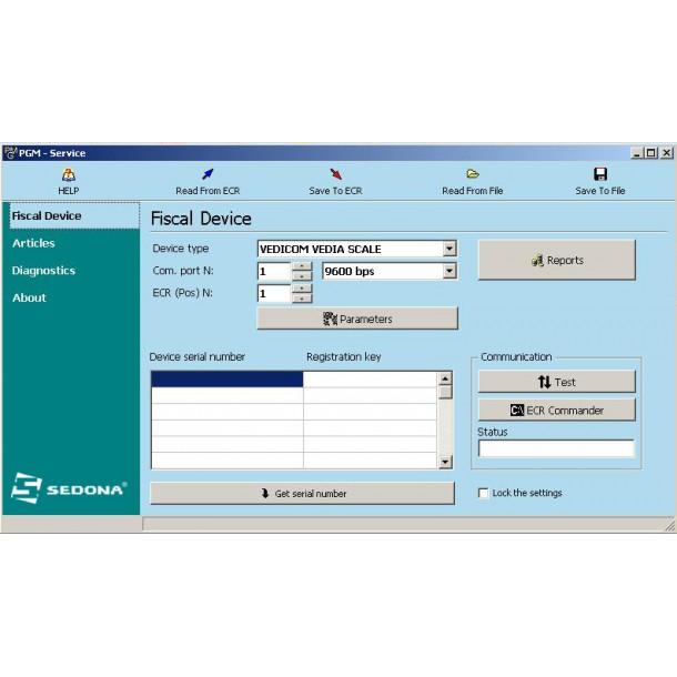 PGM - Aplicatie pentru cantarele cu etichetare Vedia