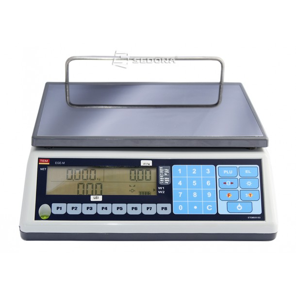 Price Computing Scale Tem EGE LCD Flat - without Connexion - Power Supply