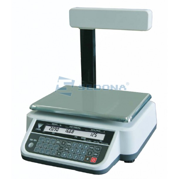 Price Computing Scale Digi DS782 P 6/15/30 kg with RS232 Connection - Power Supply