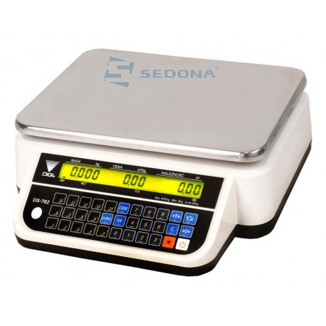 Price Computing Scale Digi DS782 B6/15/30 kg with RS232 Connection - Power Supply