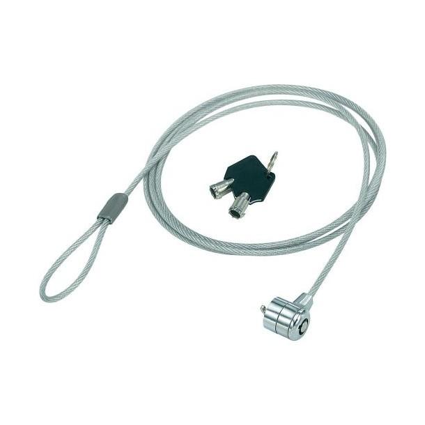 Cablu de siguranta drept, cu o incuietoare
