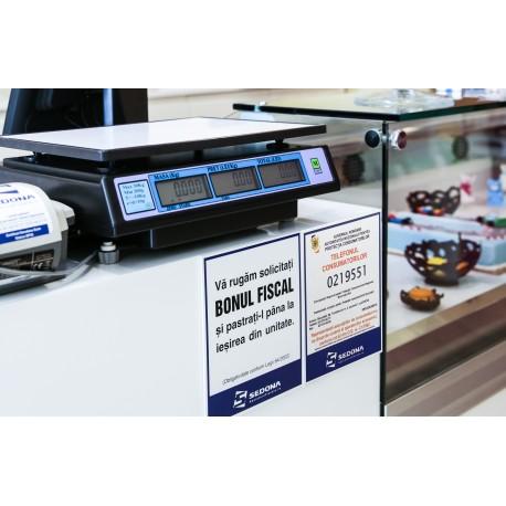 Placuta Protectia Consumatorului - Telefonul Consumatorului