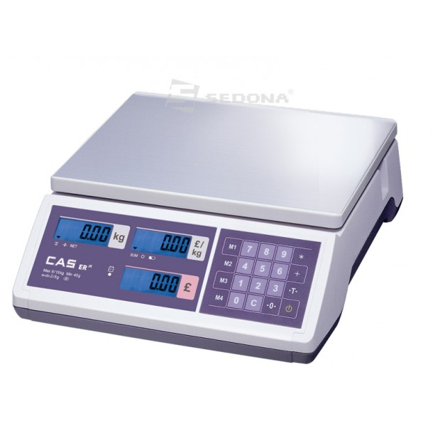 Price Computing Scale Cas ER JR - without Connexion - Power Supply