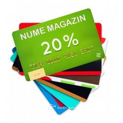 Carduri de plastic personalizate color – per bucata