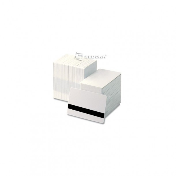 White plastic cards with magnetic stripe - 500 pieces package