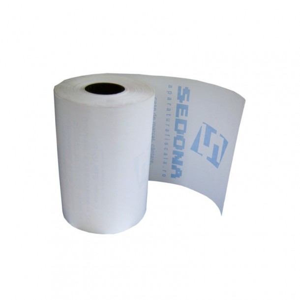 Thermal roll for cash register, 56mm wide 25m long for taxi Microsif