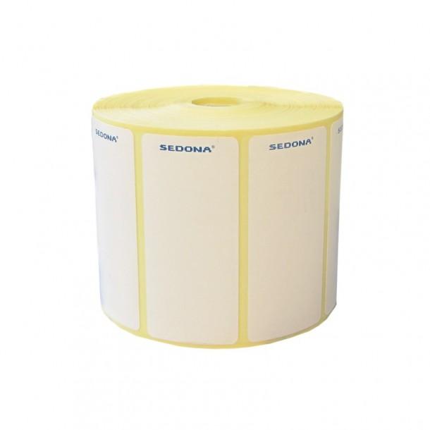 Rola etichete autocolante, semilucioase, transfer termic, 100 x 50mm (1000 et.)