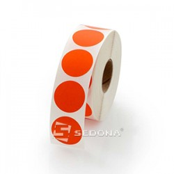 17mm Round Red Sticker Gloss Label Rolls Thermal Transfer