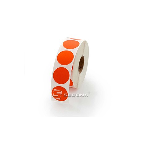 Red Gloss Label Rolls 17mm