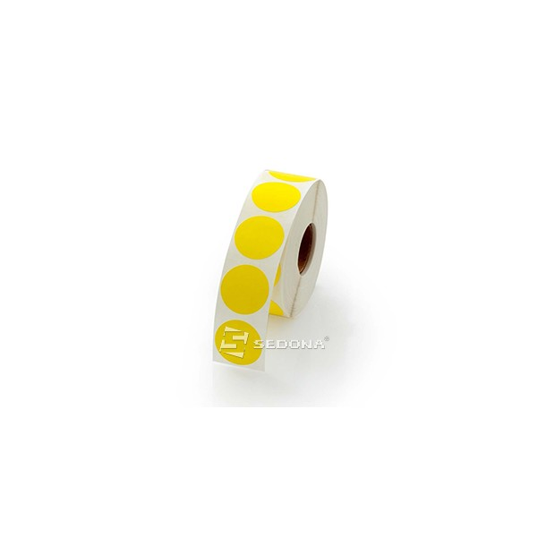 Yellow Gloss Label Rolls Thermal Transfer 17mm