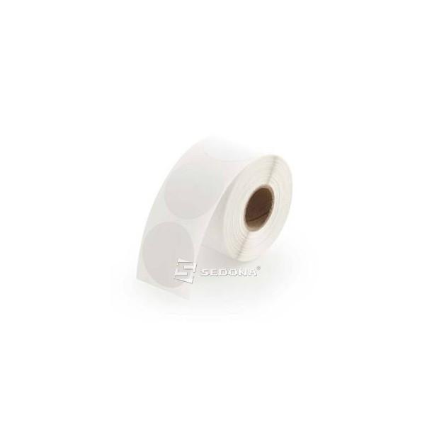 Rola etichete autocolante, direct termice, rotunde, 76 mm