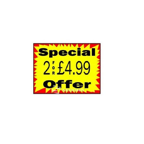 Price label gun 37 x 28 mm Rectangular (700 labels/roll)