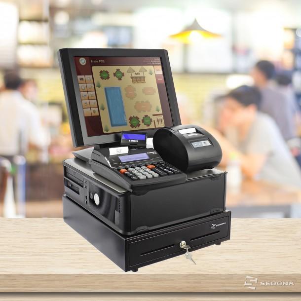 Sistem pentru restaurant - ECONOMIC - Cu Casa marcat, Imprimanta POS, Sertar bani, Touchscreen, Computer, Freya Restaurant