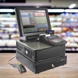 Sistem de gestiune pentru magazin - ECONOMIC - cu Cititor, Casa marcat, Sertar bani, Monitor touch, Computer, Sedona Retail