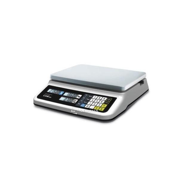 Cantar comercial USB CAS PR II 15/30 kg Fara Brat, USB - acumulator, baterii