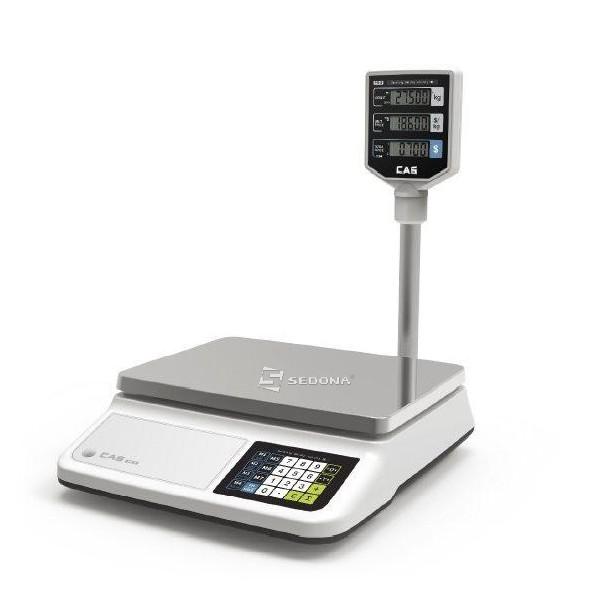 Cantar comercial CAS PR II 30CP Cu Brat 15/30 kg USB - acumulator, baterii