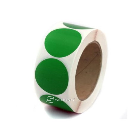 Rola etichete semilucioase rotunde galbene transfer termic 35 mm