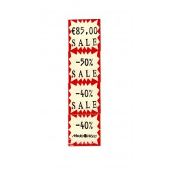 Price labeling gun 29 x 28 mm white labels