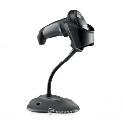 1D Wired Barcode Scanner Zebra Symbol LI2208 Stand RS232 Black