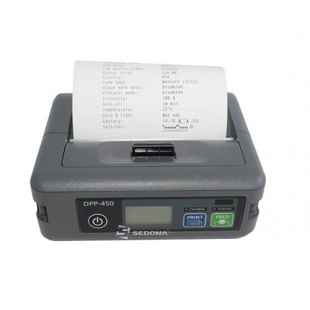 Imprimanta POS portabila Datecs DPP450 conectare Bluetooth