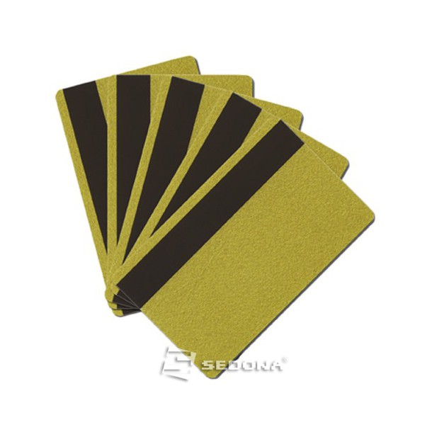 Color plastic card with magnetic stripe - 100 pieces package