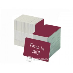 Color plastic card - 100 pieces package