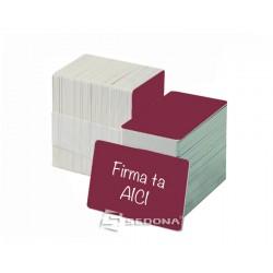 Color plastic card - 100 pieces package