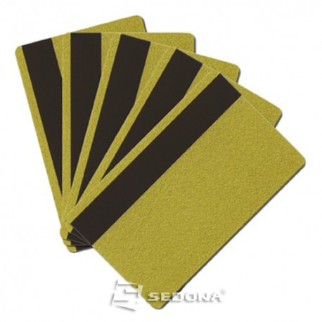 Color plastic card with magnetic stripe