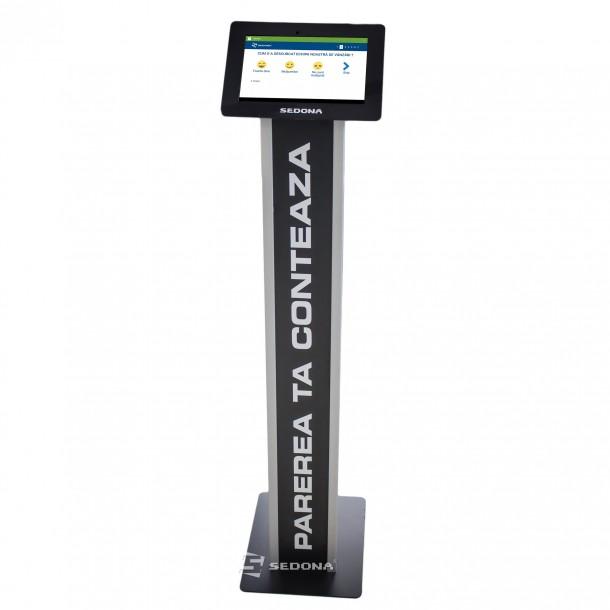 """Stand pentru tablete 10"""", de podea, Negru, Personalizabil - Cumparare sau inchiriere"""