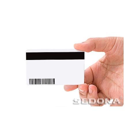 Card plastic alb cu banda magnetica