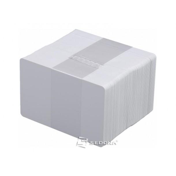 Pachet 100 carduri plastic albe