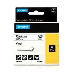 Banda vinil Dymo ID1 Vinil 19 mm x 5,5 m, negru/alb