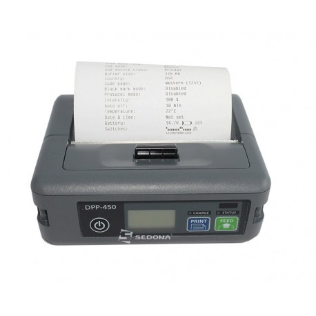 pos mobile printer datecs dpp450 usb rs232 sedona