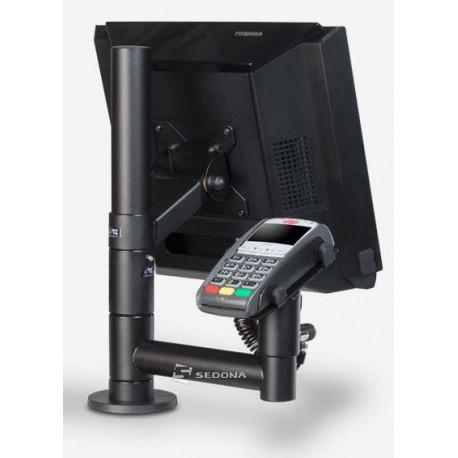 Stand SpacePole pentru monitor si terminal de plata