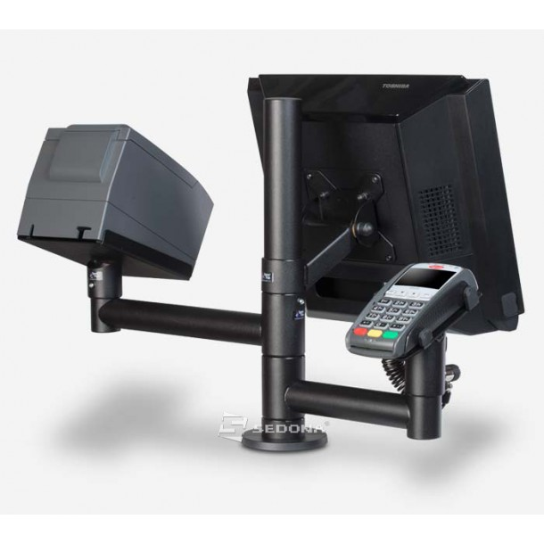 Stand SpacePole for monitor, payment terminal and printer