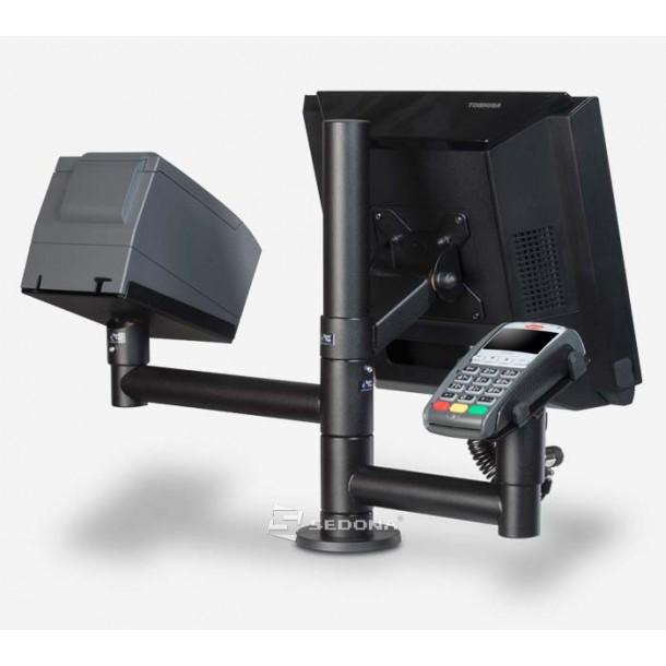 Stand SpacePole pentru monitor, terminal de plata si imprimanta