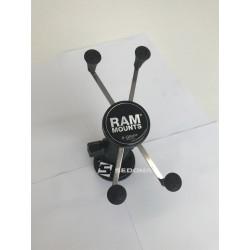 """RAM MOUNT - SISTEM X-GRIP cu brat metalic si ventuza 8.5 cm pentru dispozitive cu diagonala de maxim 5.0"""""""