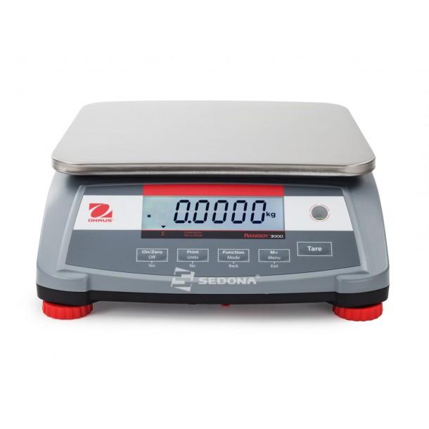 Cantar de verificare Ohaus Ranger – 225 x 300 mm – 1,5/3/6/15/30 kg - Cu verificare metrologica