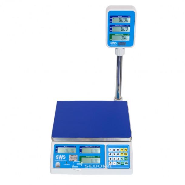 Cantar comercial SWS PMKL 6/15/30 KG - Cu conectare - Acumulator