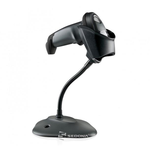 Cititor coduri 1D Zebra Symbol LI2208 USB Negru Cu Stand