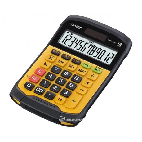 Calculator de birou Casio rezistent la apa si praf, 12 digits, portocaliu