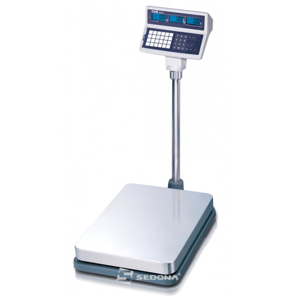 Platform scales with calculation price CAS EB-150L, 40x52cm
