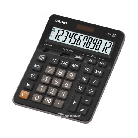 Casio waterproof and dustproof calculator, 12 digits, orange