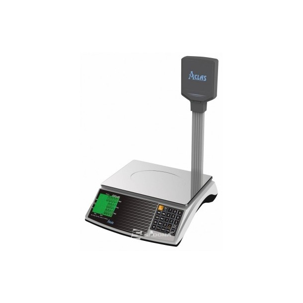 Commercial scale Aclas PS6XB with pole 15 kg - Optional Connection - Battery
