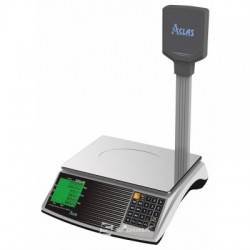 Commercial scale Aclas PS6X C with pole, 15 kg, with RS232