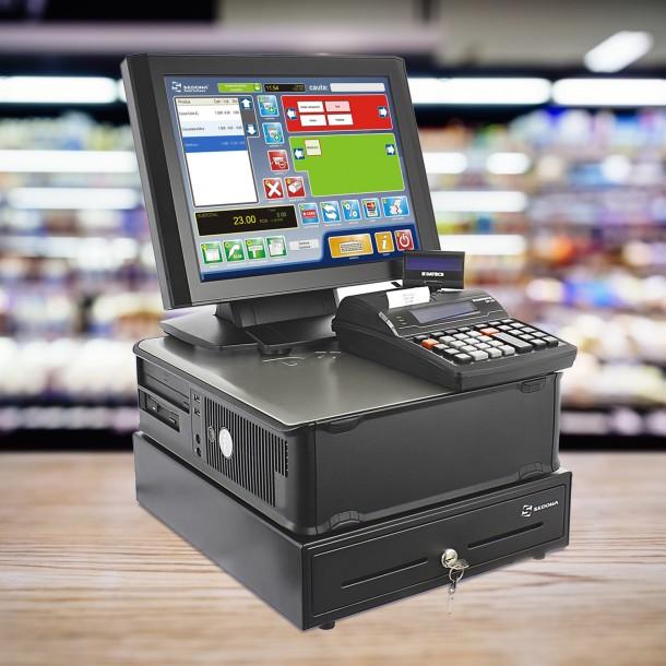 Sistem de gestiune - ECONOMIC - cu Casa marcat, Sertar bani, Monitor touch, Computer, Sedona Retail