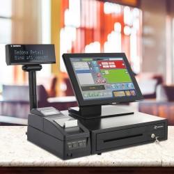 Sistem de gestiune PREMIUM - cu Imprimanta fiscala, Sertar bani, POS All-in-One Aures, Sedona Retail