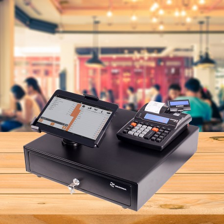 POS System with Cash Register and Tablet