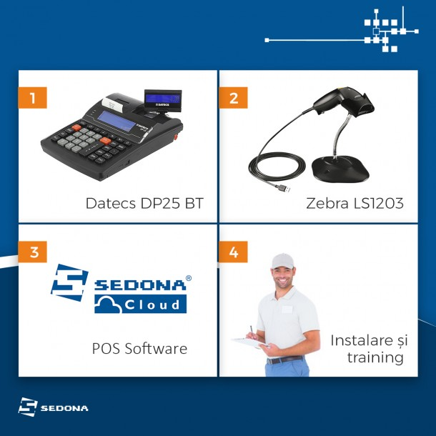 Mini System with Sedona Cloud POS Software, cash register, barcode scanner