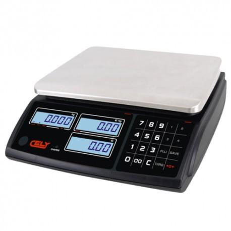 Cantar comercial Cely PI100 fara brat - 6/15/30 kg - Cu conectare - Acumulator